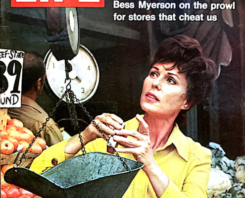 Bess Myerson on the cover of Life Magazine, 1971