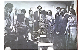 Bess Myerson's staff - Sarah Vogel is on the far right