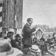 A.C. Townley addressing crowd