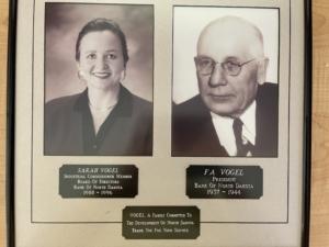 side by side photos of Sarah Vogel and grandfather Frank Vogel